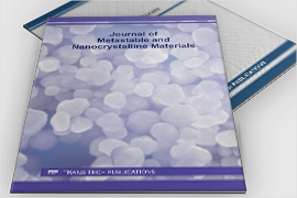Journal of Metastable and Nanocrystalline Materials