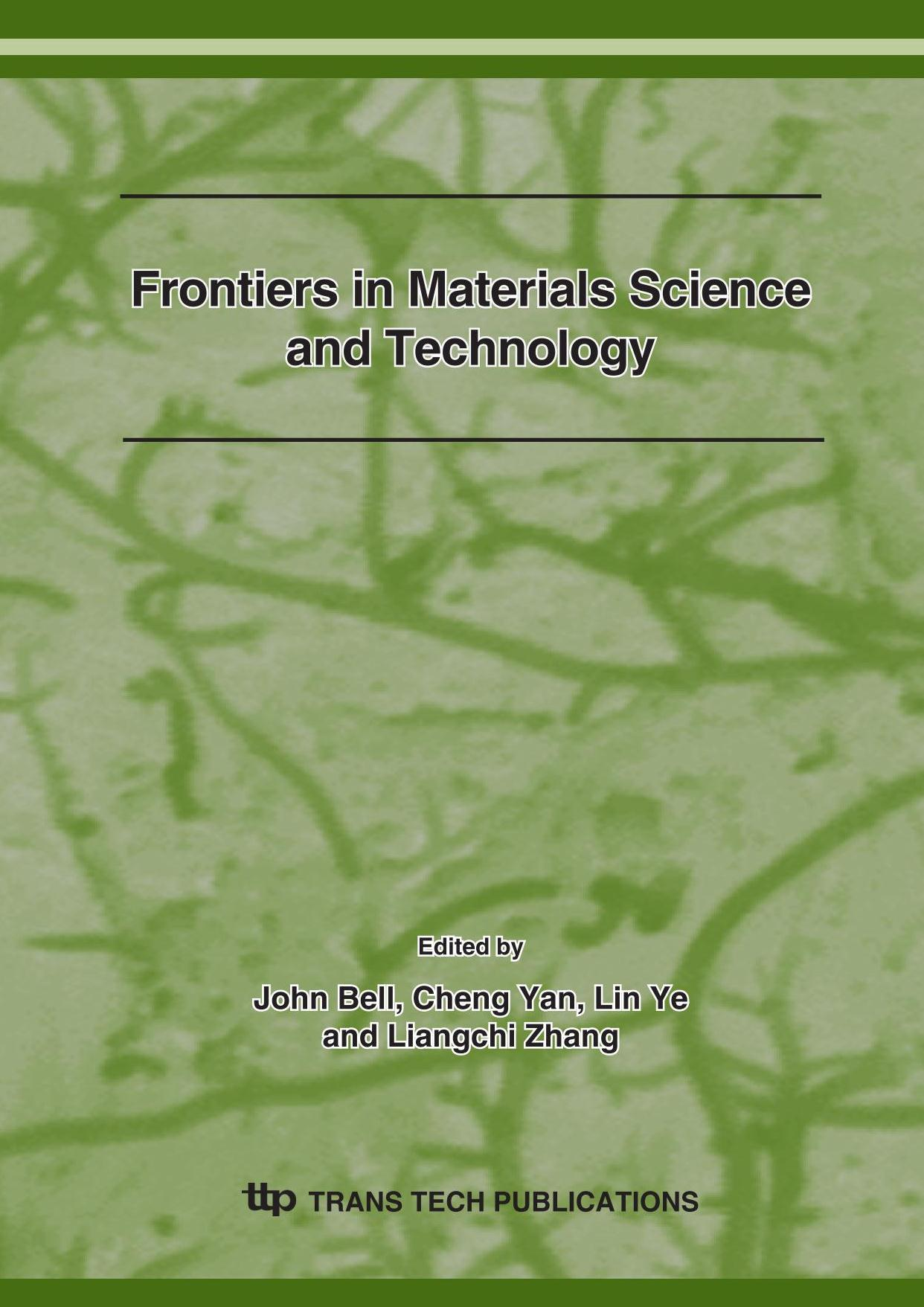 Frontiers in Materials Science and Technology