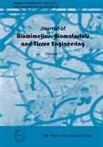 Journal of Biomimetics, Biomaterials and Tissue Engineering Vol.7