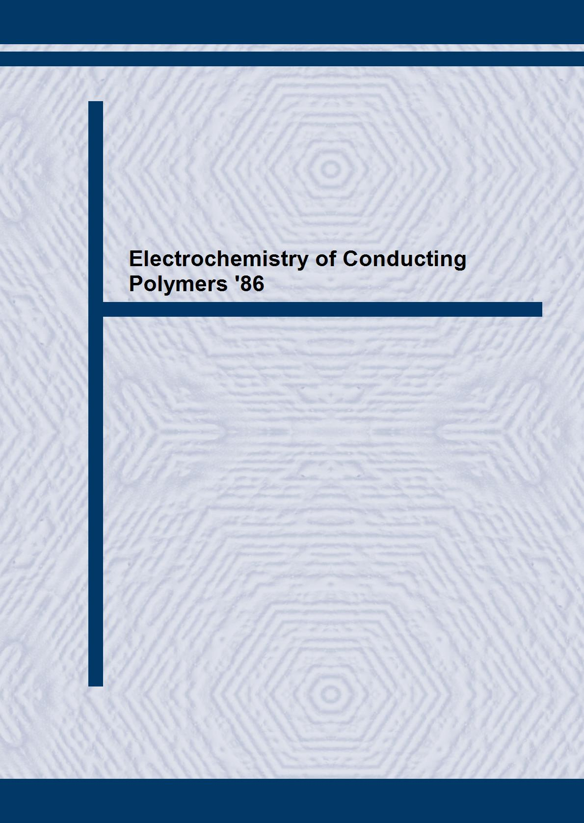 Electrochemistry of Conducting Polymers '86