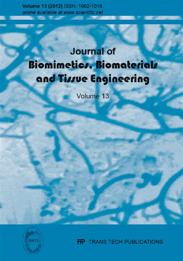 Journal of Biomimetics, Biomaterials & Tissue Engineering Vol.13