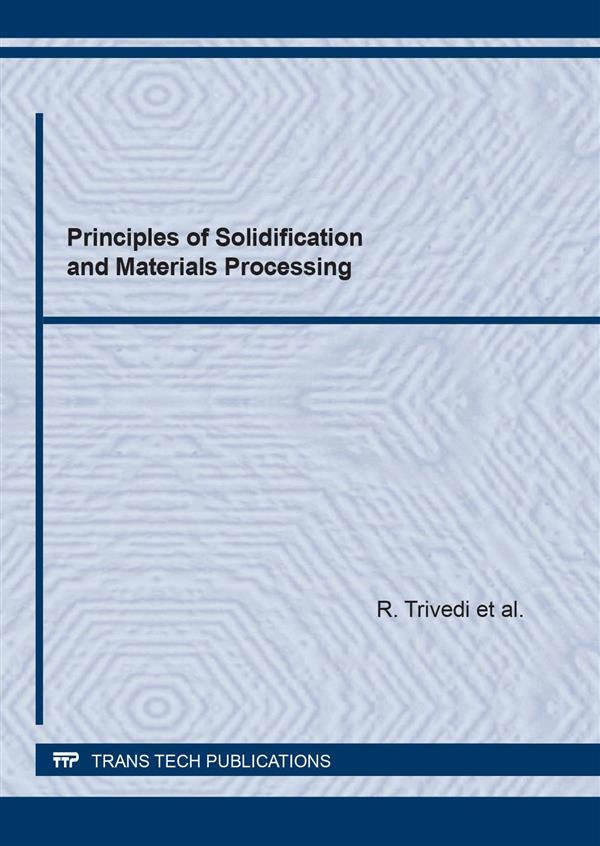 Principles of Solidification and Materials Processing