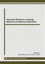 Advanced Research on Energy Materials and Material Application