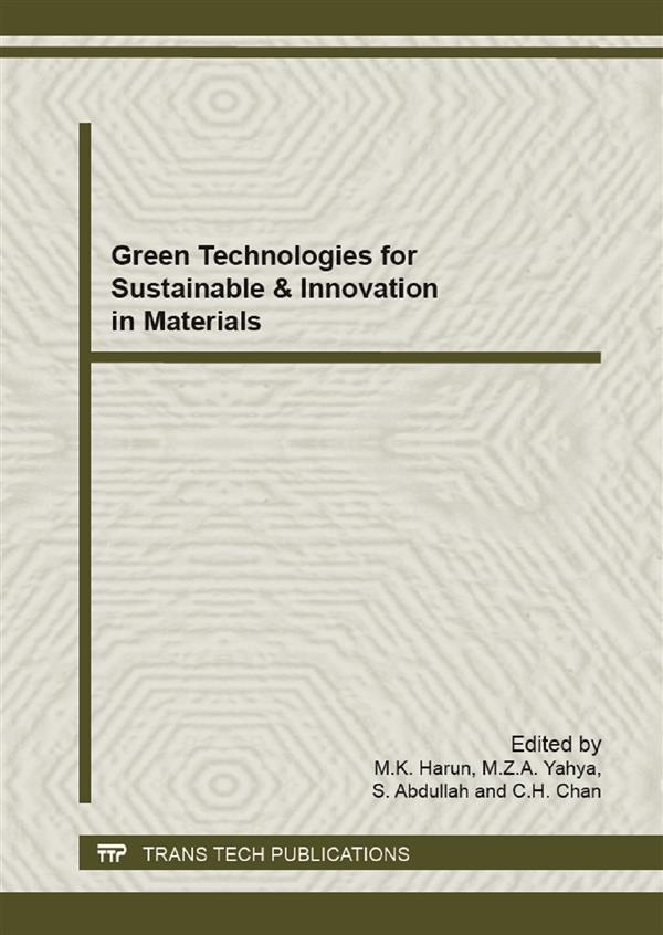 Green Technologies for Sustainable & Innovation in Materials