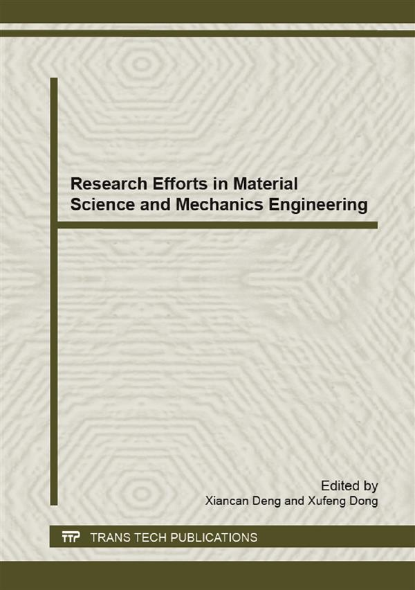 Research Efforts in Material Science and Mechanics Engineering