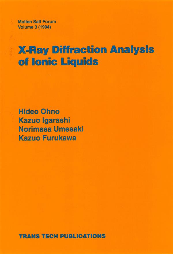 X-Ray Diffraction Analysis of Ionic Liquids