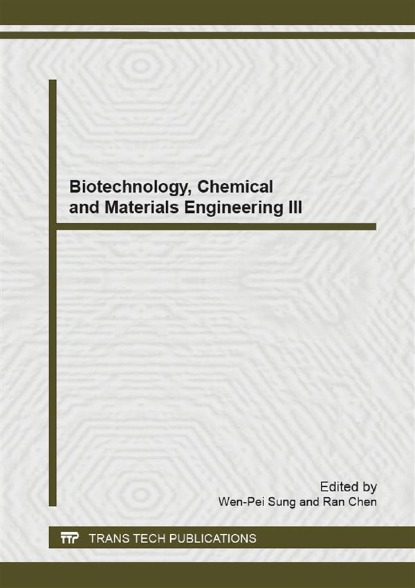 Biotechnology, Chemical and Materials Engineering III