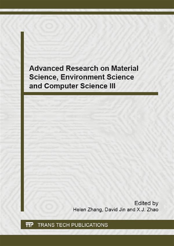 Advanced Research on Material Science, Environment Science and Computer Science III