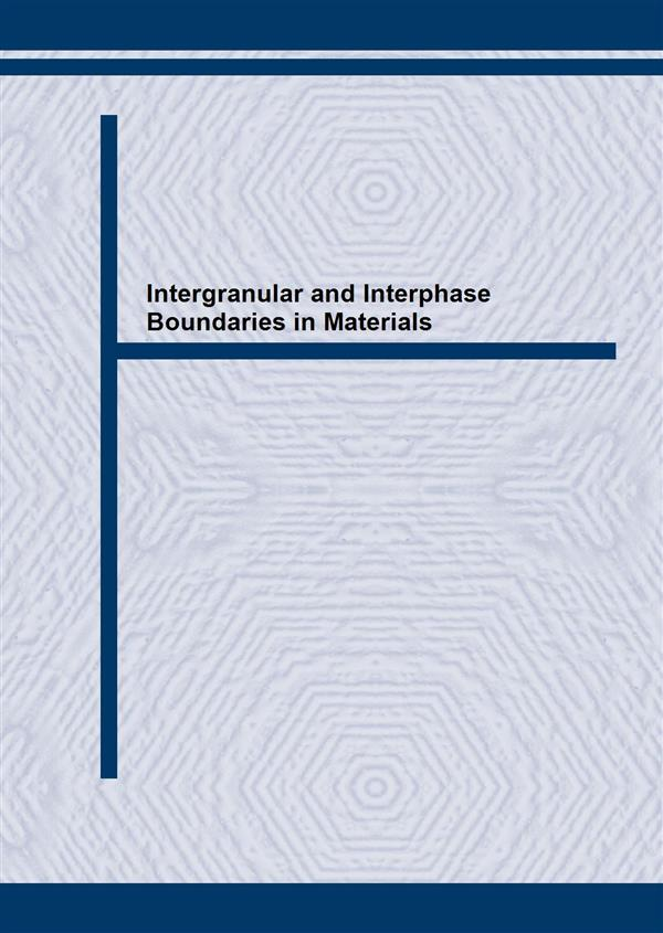 Intergranular and Interphase Boundaries in Materials