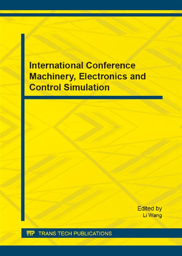 International Conference Machinery, Electronics and Control Simulation