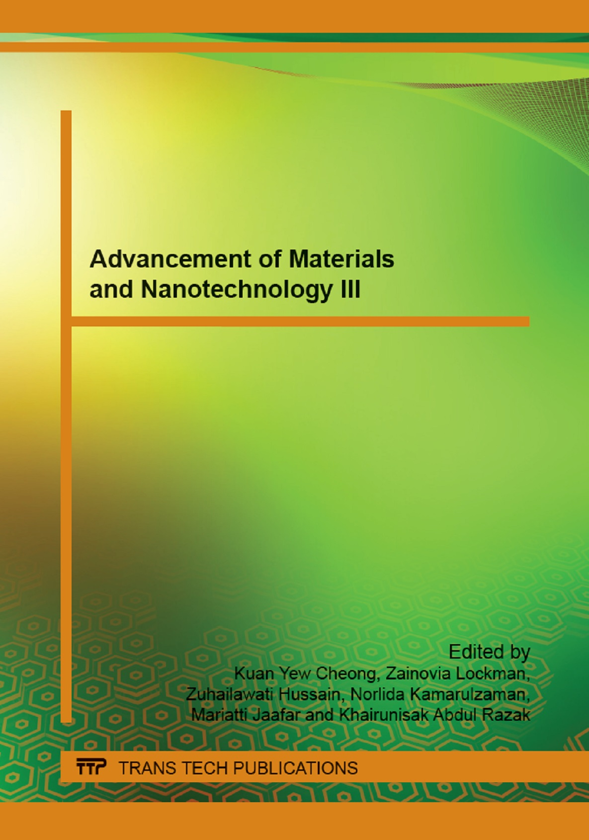 Advancement of Materials and Nanotechnology III