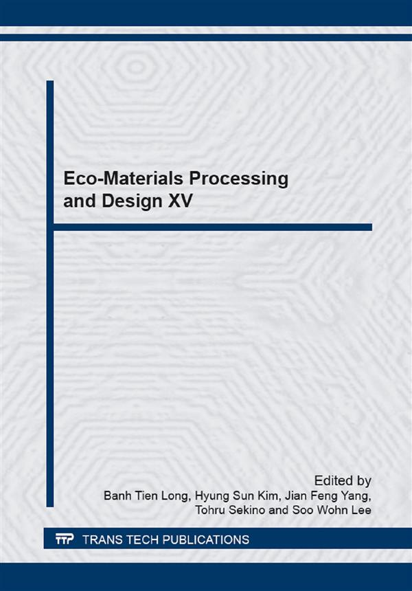 Eco-Materials Processing and Design XV