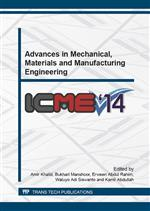 Advances in Mechanical, Materials and Manufacturing Engineering