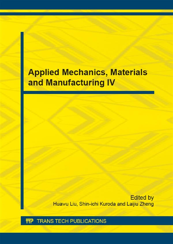 Applied Mechanics, Materials and Manufacturing IV