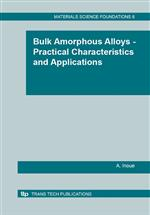 Bulk Amorphous Alloys - Practical Characteristics and Applications