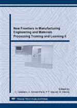 New Frontiers in Manufacturing Engineering and Materials Processing Training and Learning II