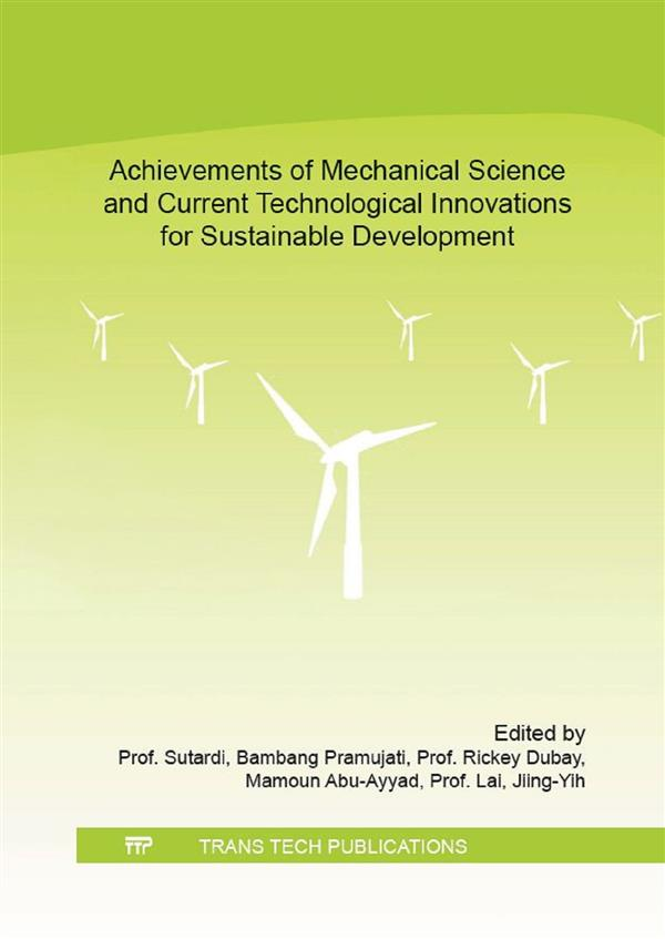 Achievements of Mechanical Science and Current Technological Innovations for Sustainable Development