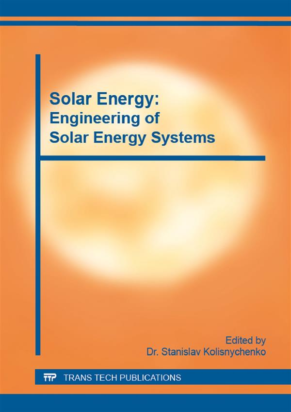 Solar Energy: Engineering of Solar Energy Systems