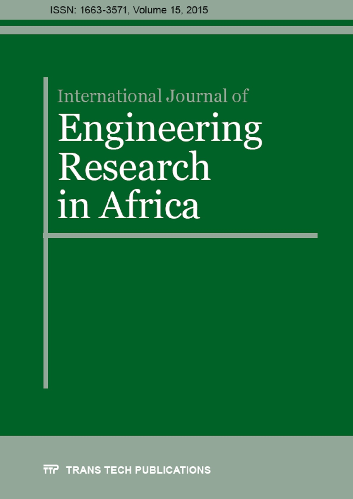 International Journal of Engineering Research in Africa Vol. 15