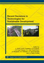 Recent Decisions in Technologies for Sustainable Development