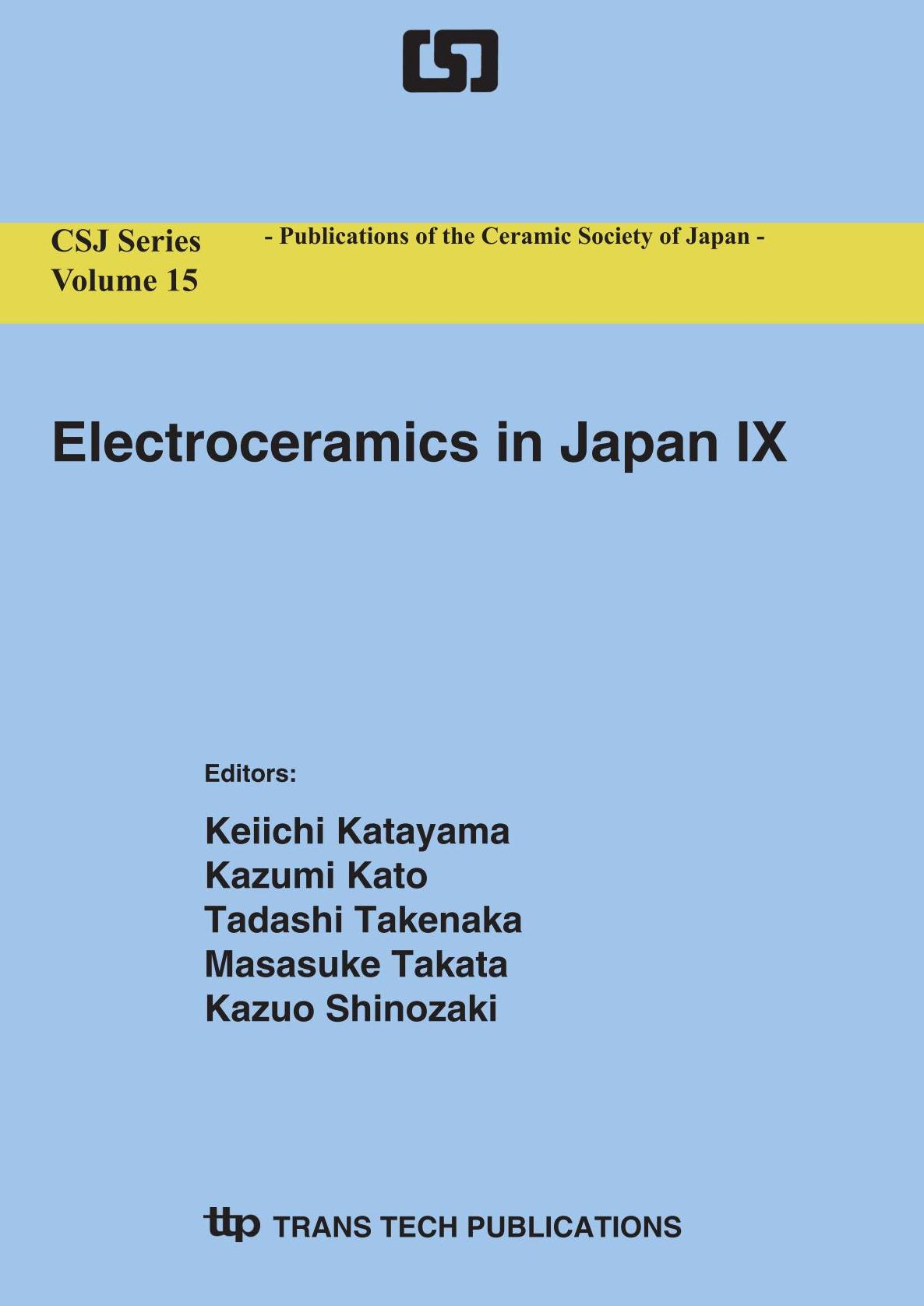 Electroceramics in Japan IX