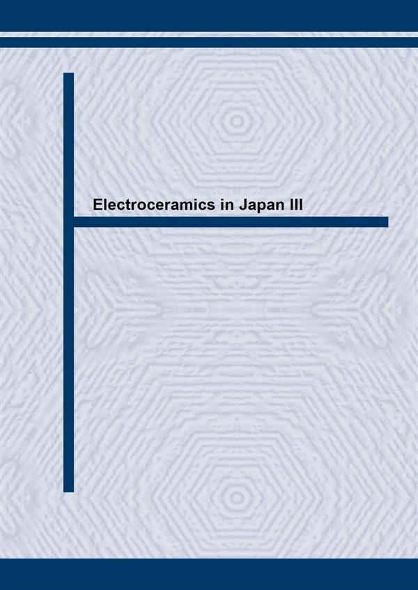 Electroceramics in Japan III