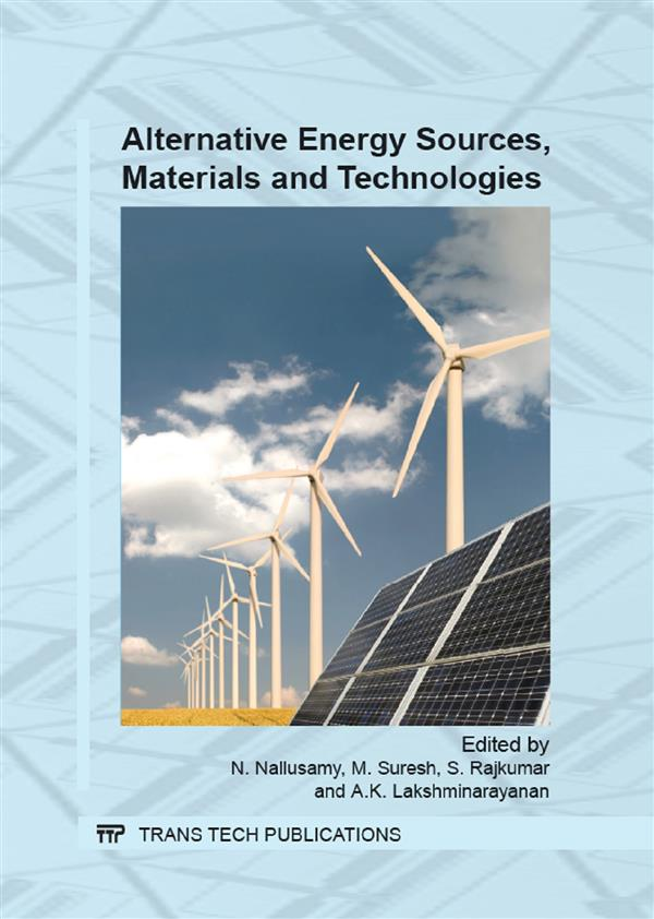 Alternative Energy Sources, Materials and Technologies