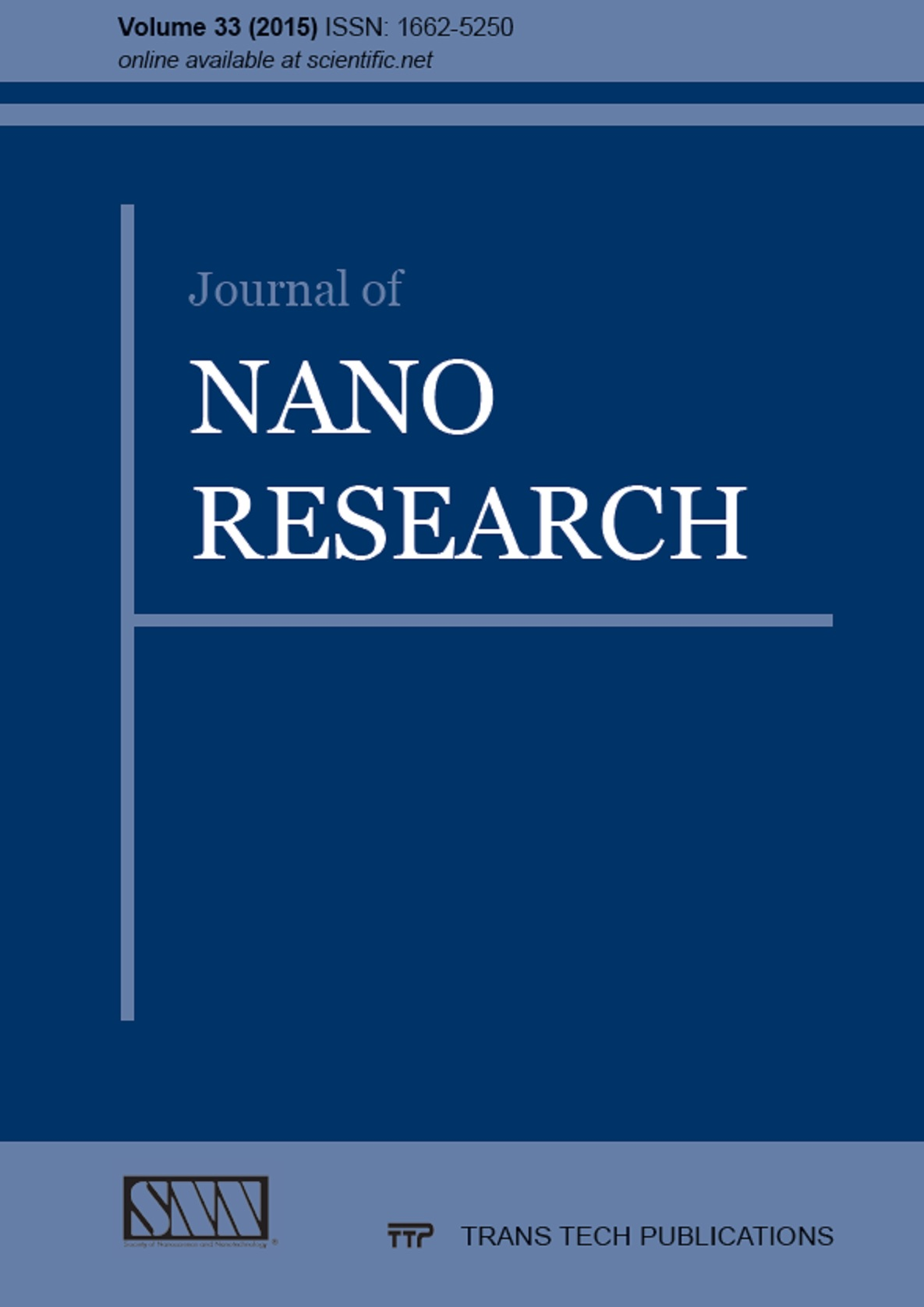 Journal of Nano Research Vol. 33