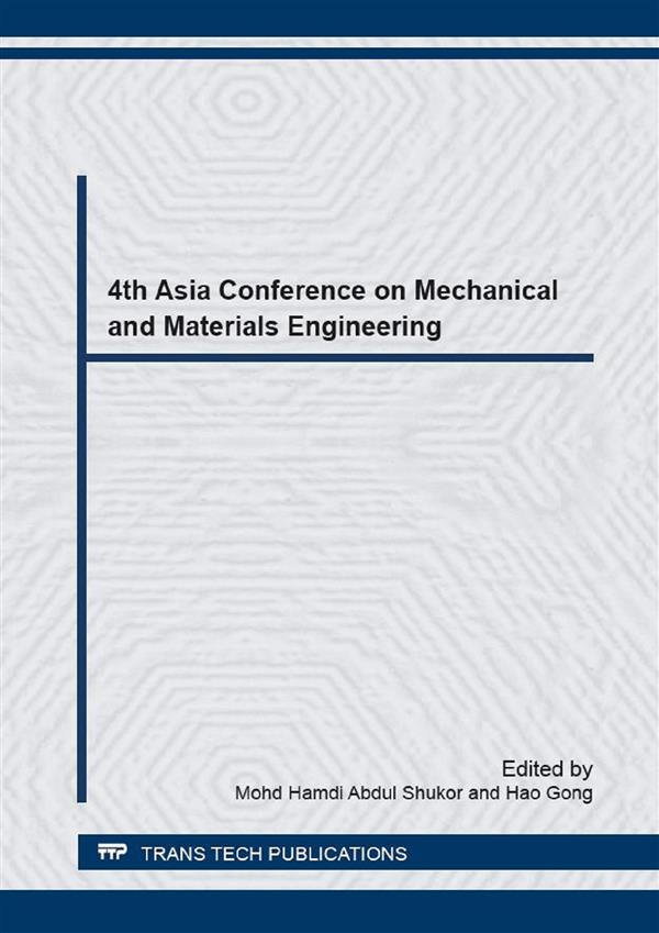 4th Asia Conference on Mechanical and Materials Engineering