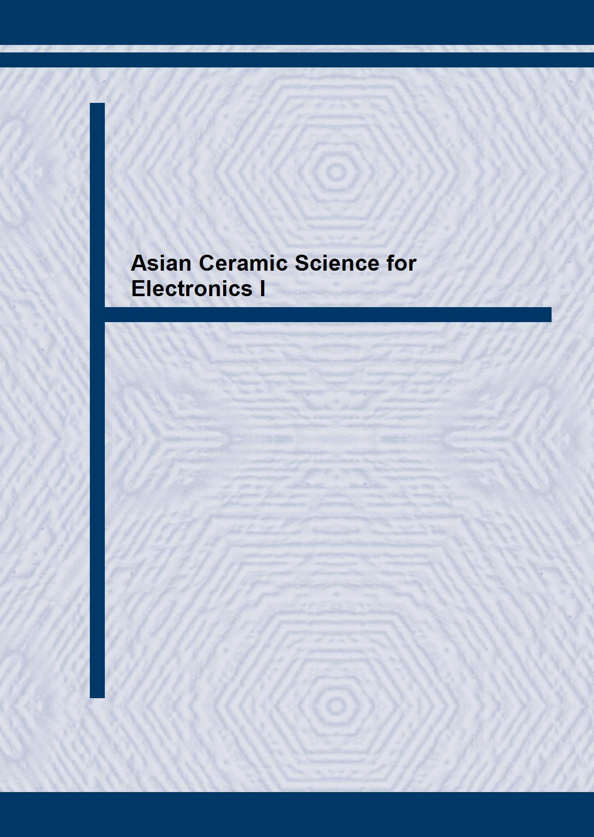 Asian Ceramic Science for Electronics I