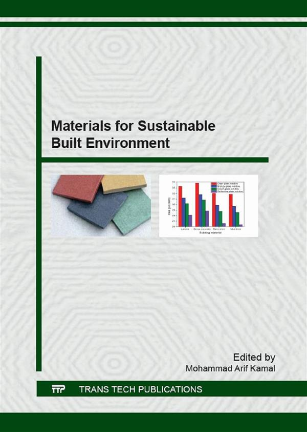 Materials for Sustainable Built Environment