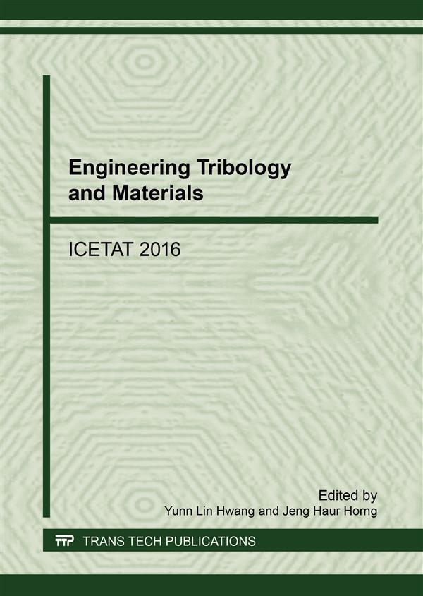 Engineering Tribology and Materials