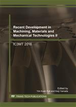 Recent Development in Machining, Materials and Mechanical Technologies II