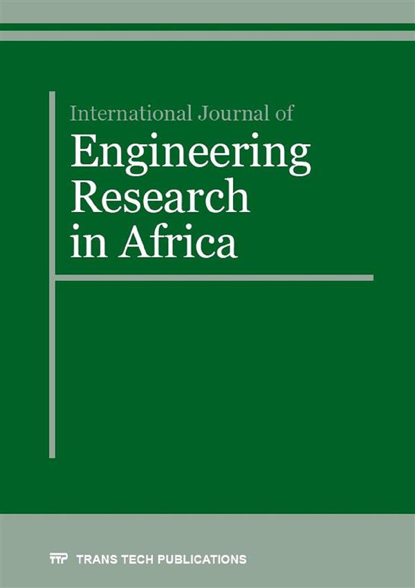 International Journal of Engineering Research in Africa Vol. 25