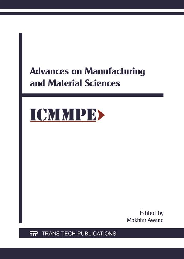 Advances on Manufacturing and Material Sciences