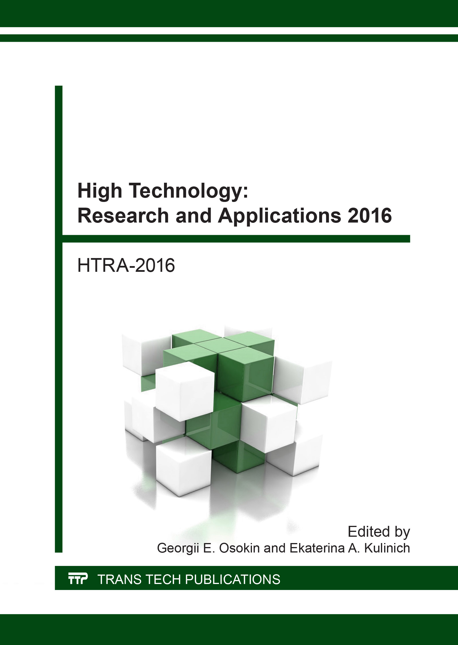 High Technology: Research and Applications 2016
