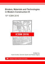 Binders, Materials and Technologies in Modern Construction III
