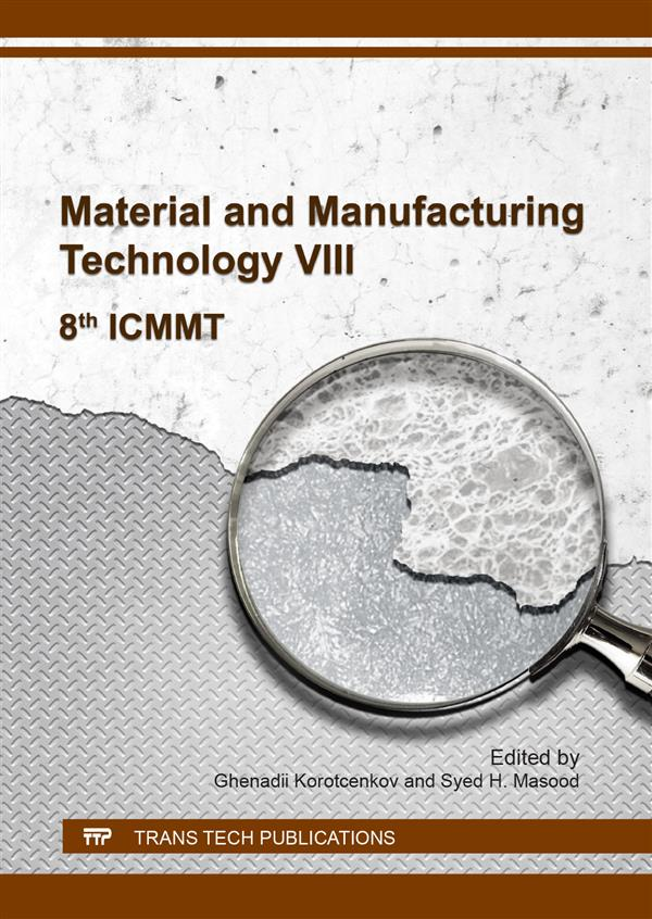 Material and Manufacturing Technology VIII