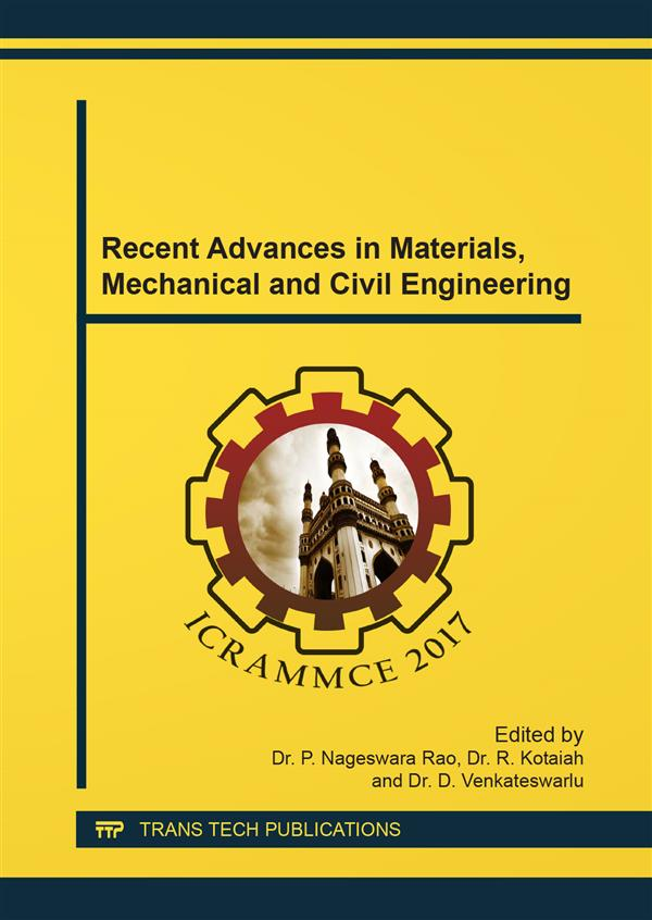 Recent Advances in Materials, Mechanical and Civil Engineering