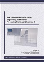 New Frontiers in Manufacturing Engineering and Materials Processing Training and Learning III