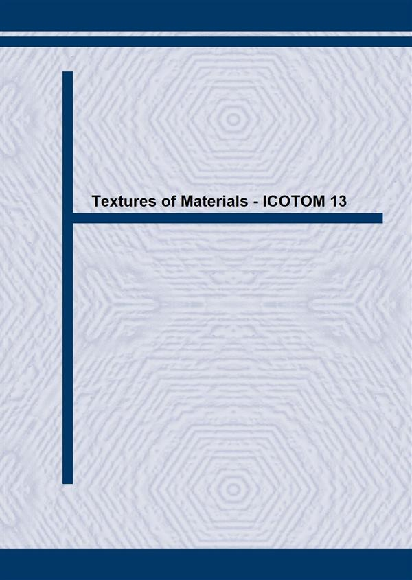 Textures of Materials - ICOTOM 13