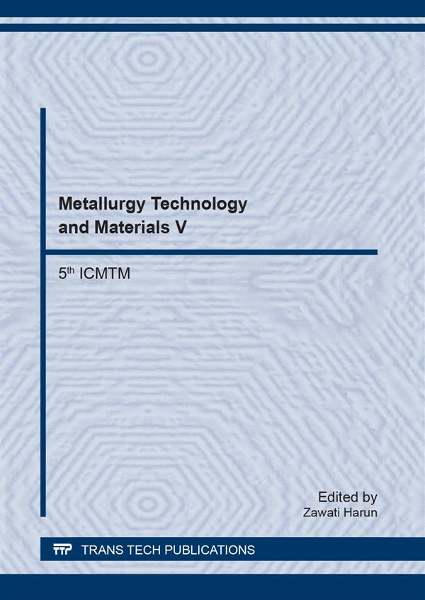 Metallurgy Technology and Materials V