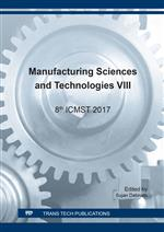 Manufacturing Sciences and Technologies VIII