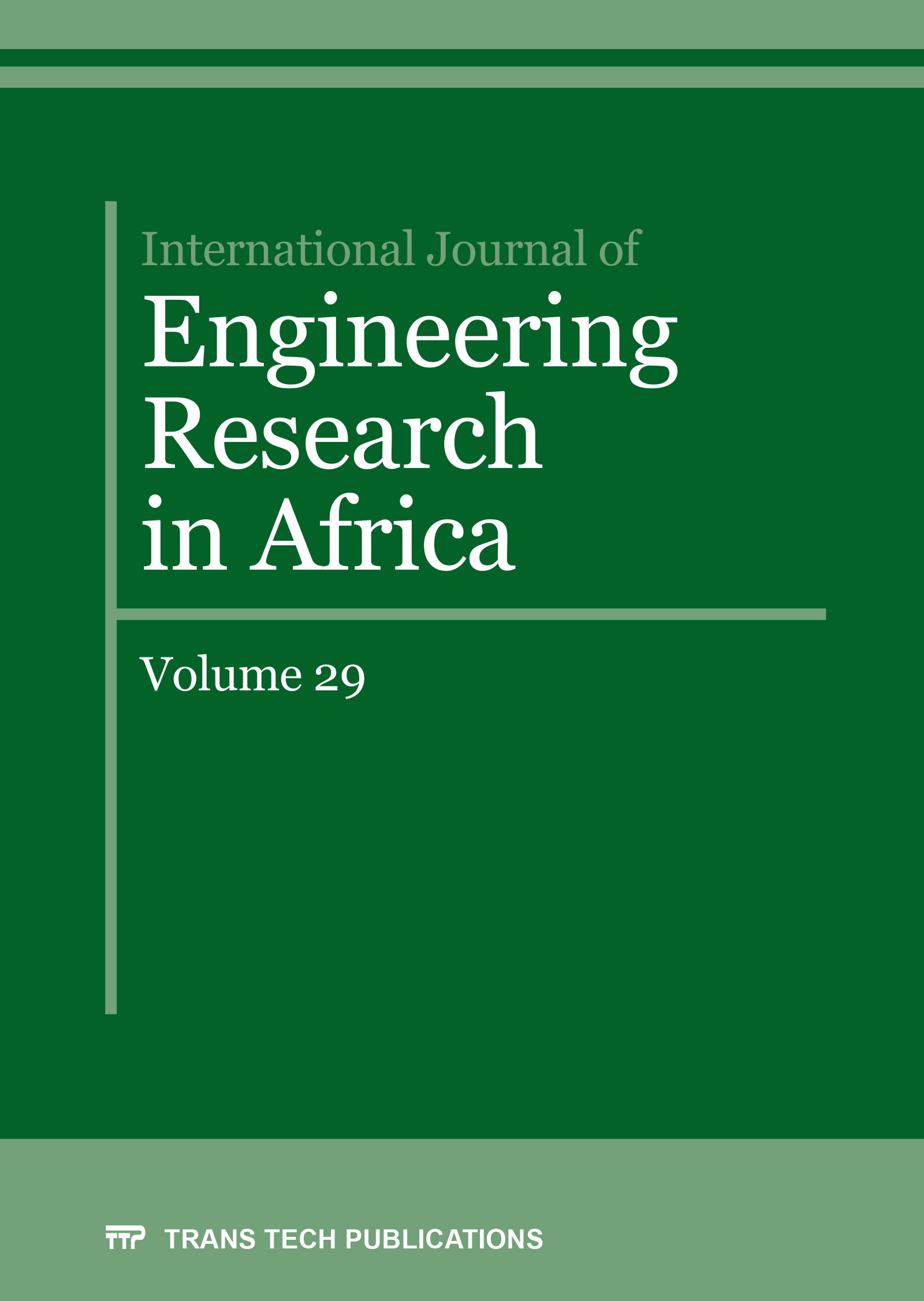 International Journal of Engineering Research in Africa Vol. 29