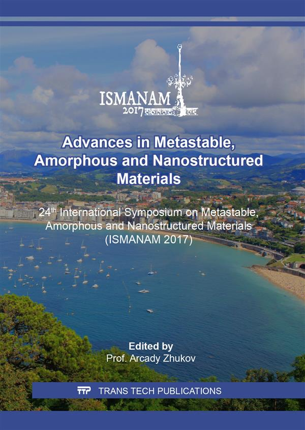 Advances in Metastable, Amorphous and Nanostructured Materials