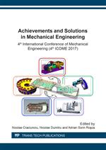 Achievements and Solutions in Mechanical Engineering