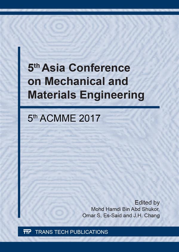 5th Asia Conference on Mechanical and Materials Engineering