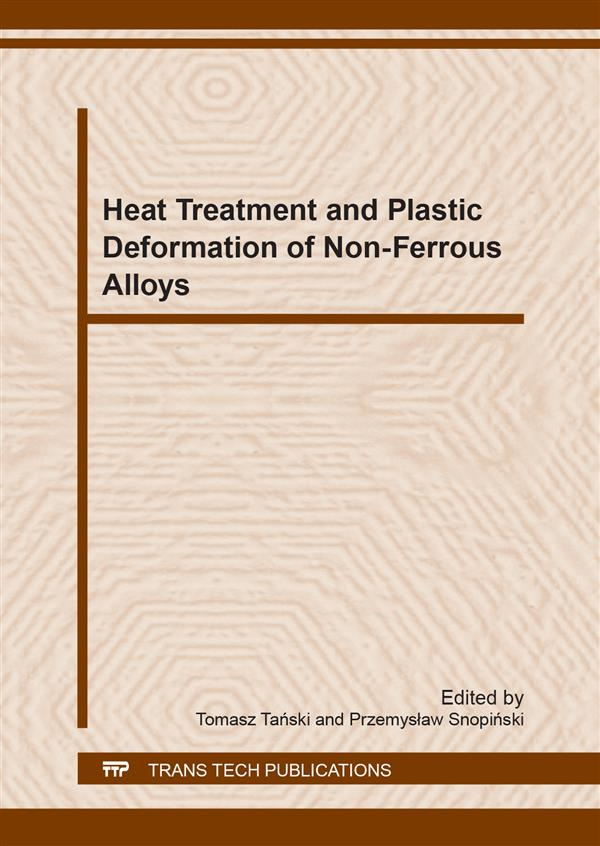 Heat Treatment and Plastic Deformation of Non-Ferrous Alloys