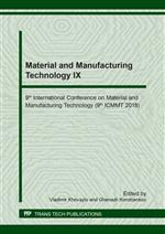 Material and Manufacturing Technology IX