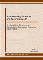 Manufacturing Sciences and Technologies IX